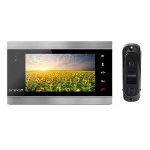 Видеодомофон Интерком ІМ-12 (ІМ-02 black + ІМ-10 black)