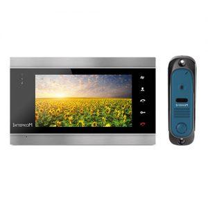 Видеодомофон Интерком ІМ-12 (ІМ-02 black + ІМ-10 blue)