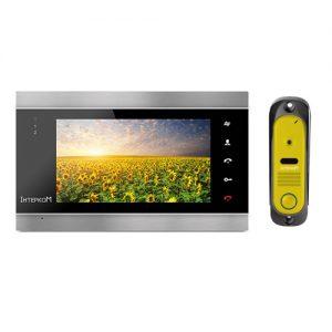 Видеодомофон Интерком ІМ-12 (ІМ-02 black + ІМ-10 yellow)