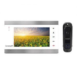 Видеодомофон Интерком ІМ-12 (ІМ-02 white + ІМ-10 black)