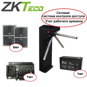 КОМПЛЕКТ: турникет TiSO Centurion (окрашен, шагрень) + система контроля доступа с простыми отчетами ZkAccess