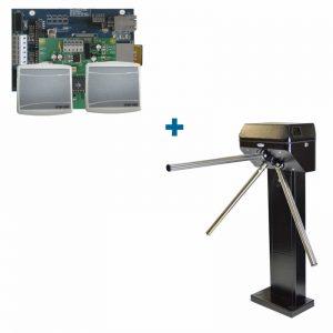 Комплекты систем контроля доступа с турникетами