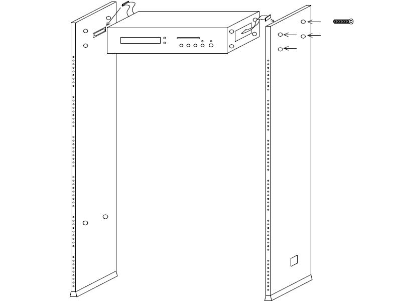 Установка арочного металлодетектора VO-2000
