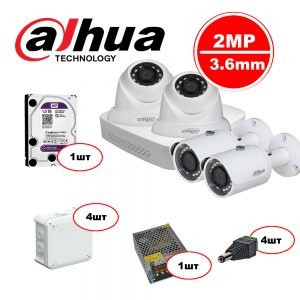 Комплект Dahua IP – 2in 2out 2MP