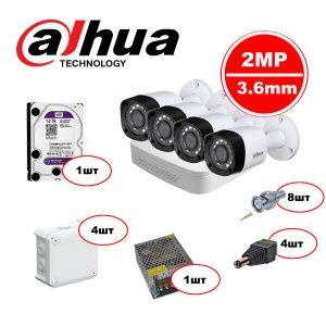 Комплект видеонаблюдения Dahua HDCVI – 4out 720р
