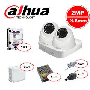 Комплект  Dahua HDCVI – 2in 720р