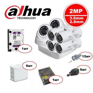Комплект видеонаблюдения Dahua HDCVI – 2in 4out 1080р