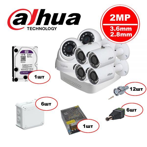 Комплект Dahua HDCVI – 2in 4out 1080р