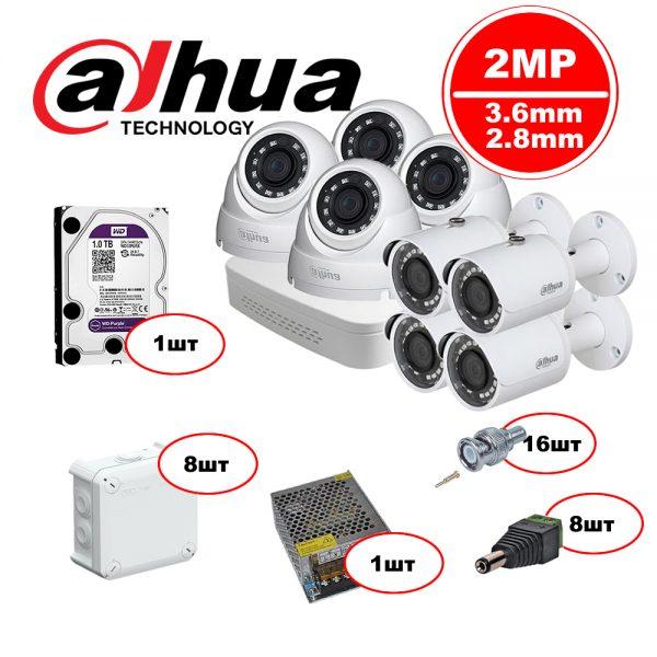 Комплект Dahua HDCVI – 4in 4out 1080р