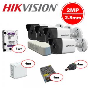 Комплект Hikvision IP – 4out 2MP