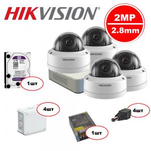 Комплект Hikvision IP – 4in 2MP