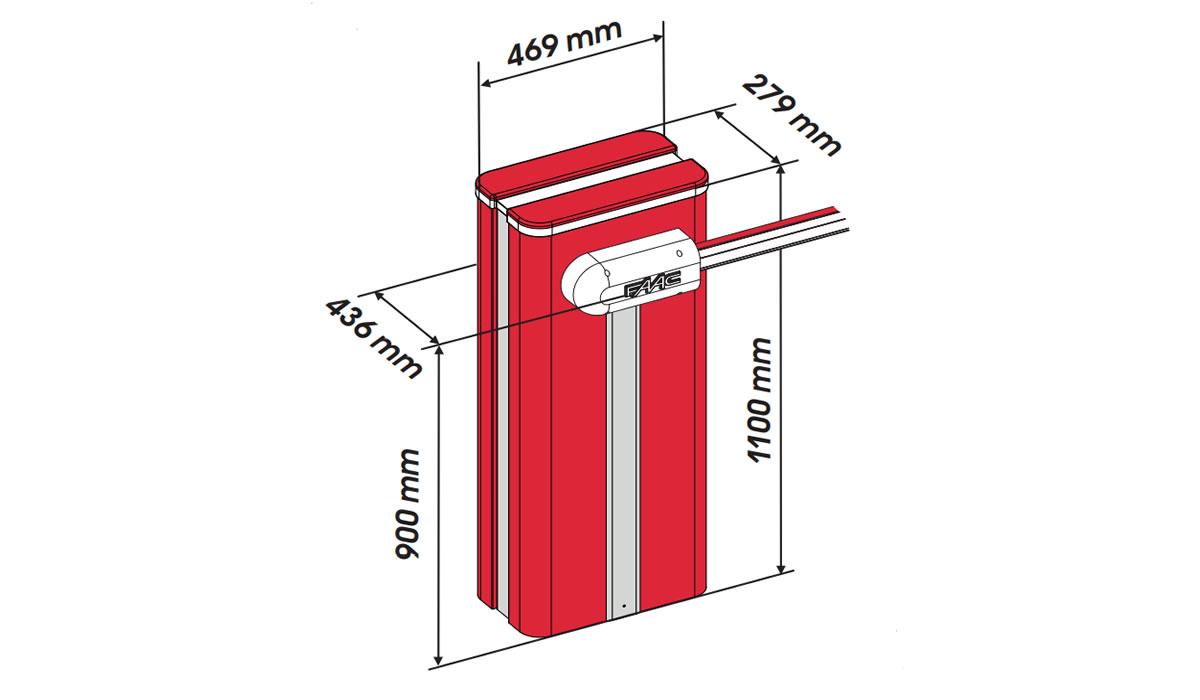 Гидравлический шлагбаум FAAC B680 RAPID