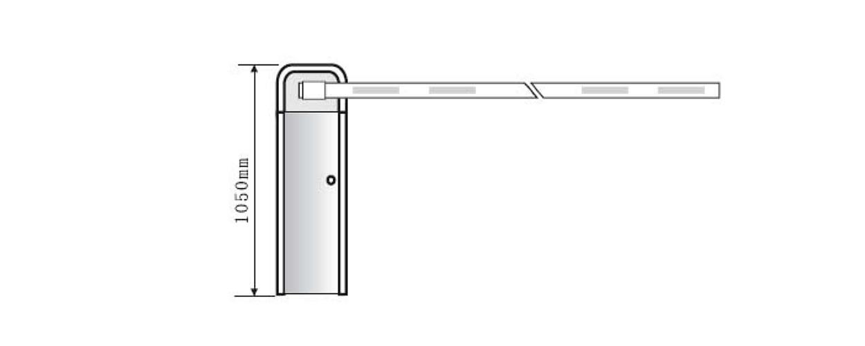 Электромеханический шлагбаум GANT 306 размеры