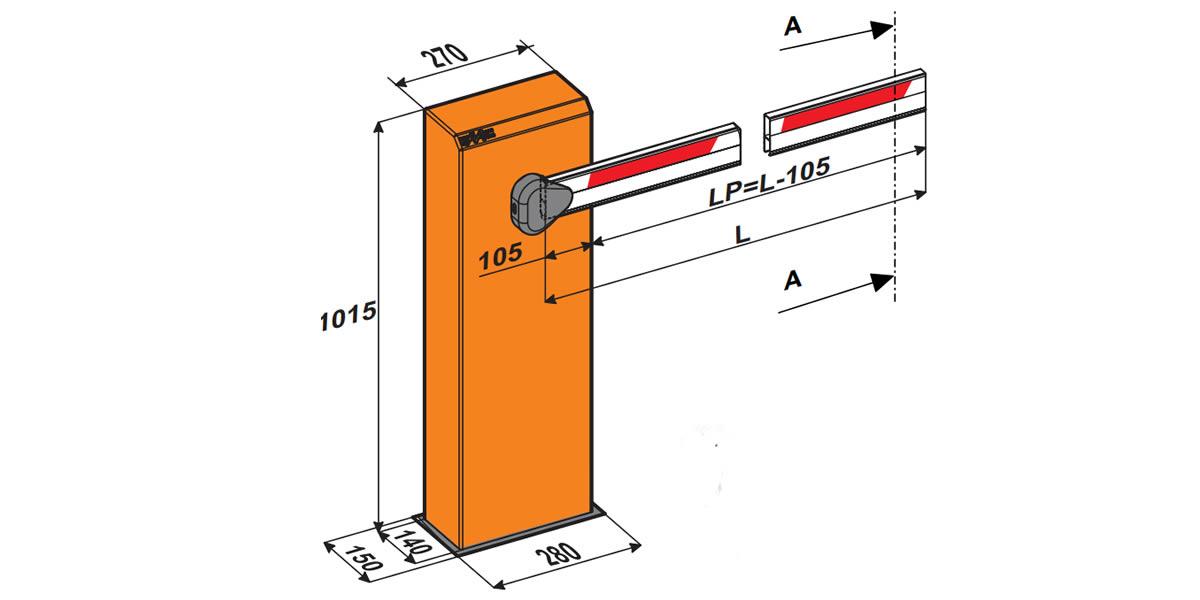 Гидравлический шлагбаум B615 STD