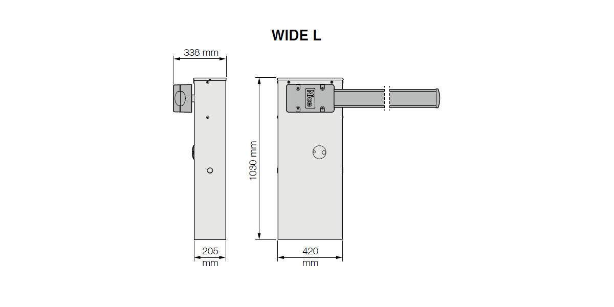 Электромеханический шлагбаум NICE WIDE L